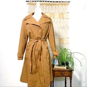 Vintage 70's Trench Coat, Aunthentic, Lined - M/L